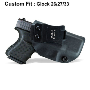 best glock 26 27 33 iwb kydex holster