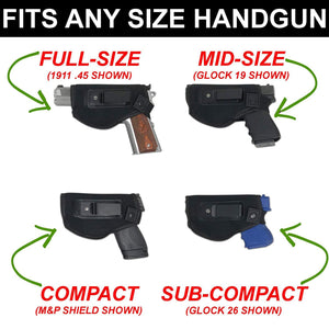 Holsters Shop truefit fits any size handgun