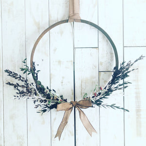 Whisky Hoop Wreath 40cm Hoop (Limited Quantities)