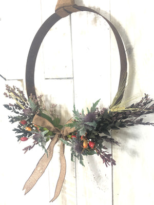 Whisky Hoop Hedge Row Wreath