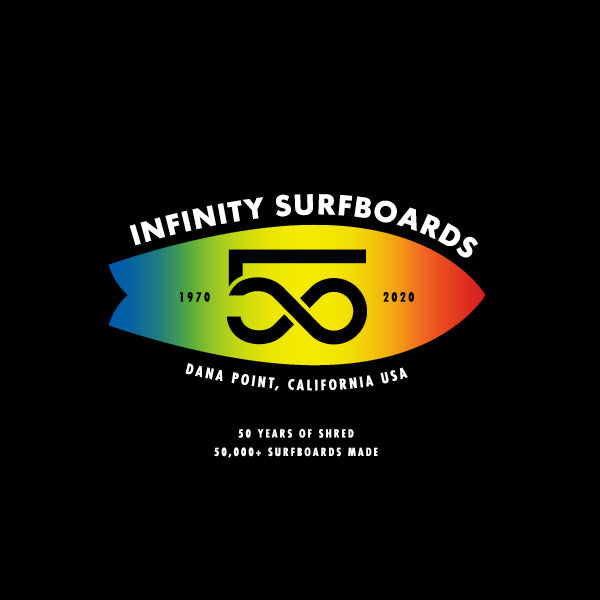 Infinity Surfboards of Dana Point, California celebrates 50 Years of business