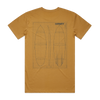 MENS - SKEMATIC SS TEE - CAMEL