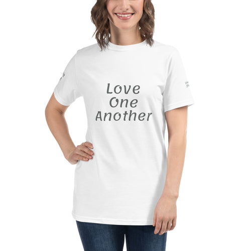 Unisex Organic T-Shirt: Love One Another