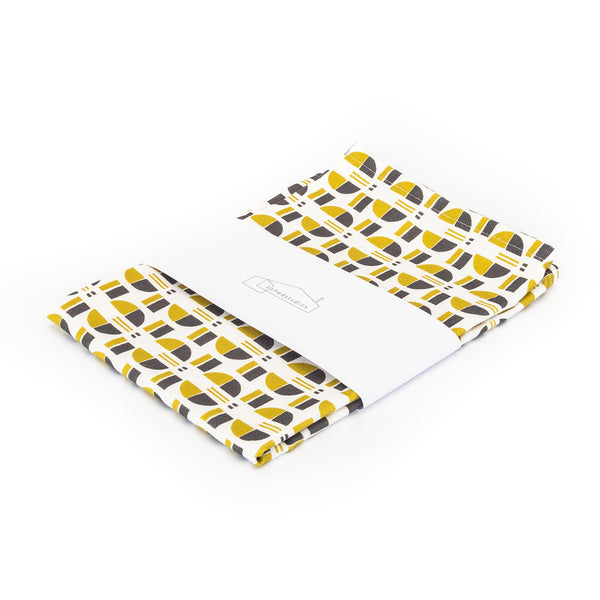 Nordic Buttons Print Tea Towel