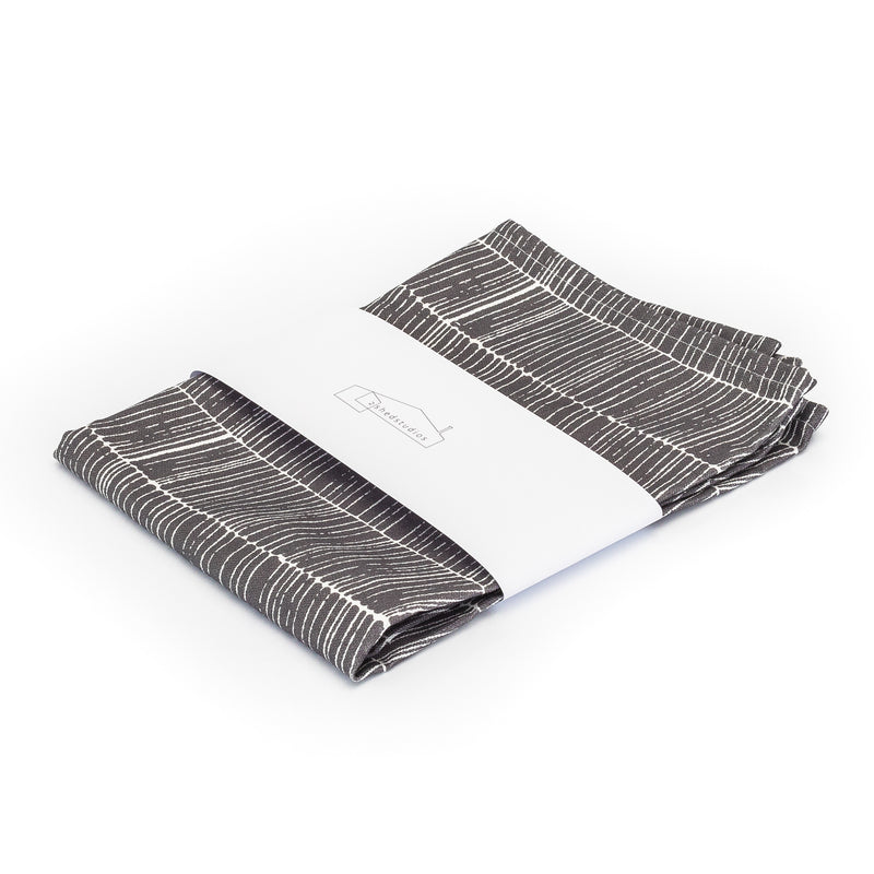Nordic Grey Herringbone Print Tea Towel