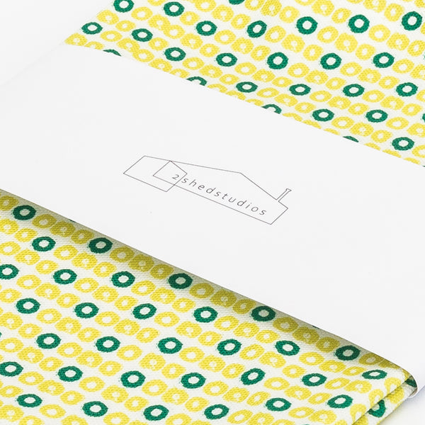 Zest Celery Slice Print Tea Towel