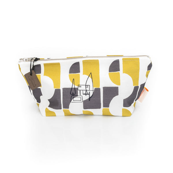 Nordic House Print Wash Bag