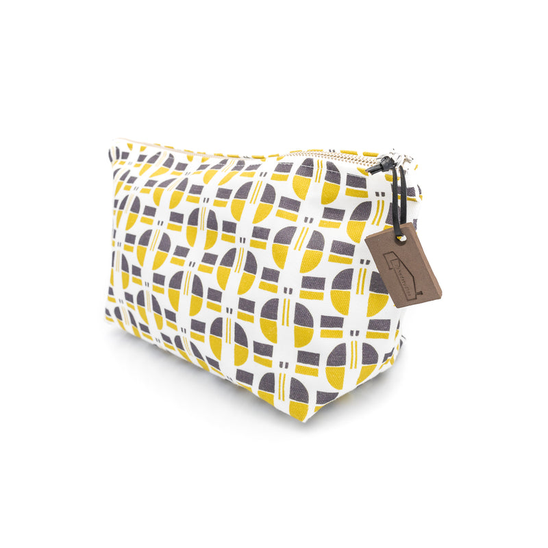 Nordic Buttons Print Wash Bag