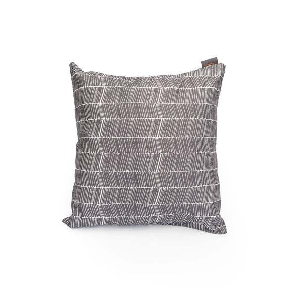 Nordic Grey Herringbone Print Cushion Cover