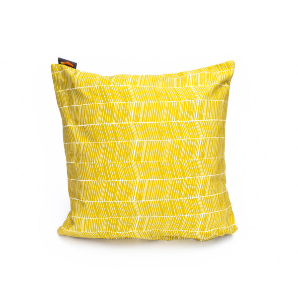 Nordic Mustard Herringbone Print Cushion Cover