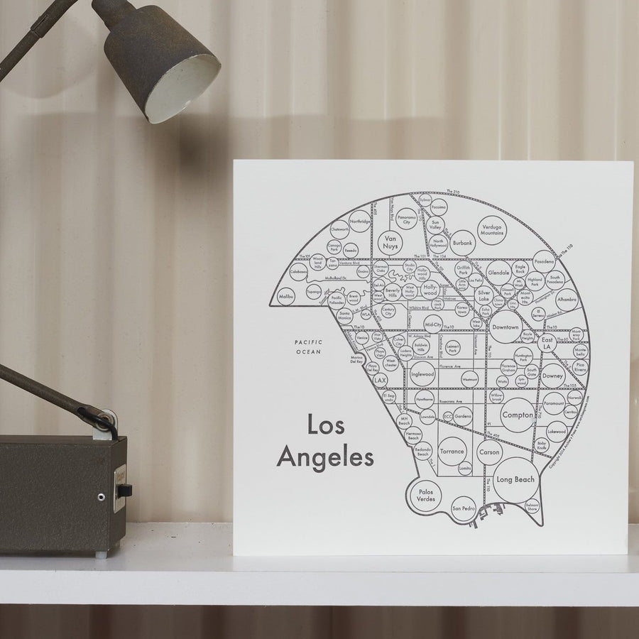 Los Angeles Circle Map