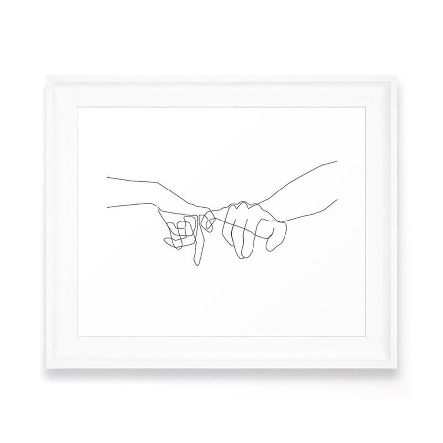 Pinky Swear Art Framed Art