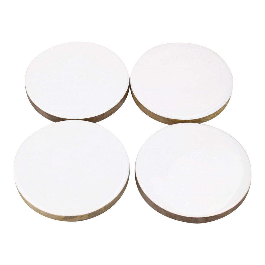 Enamel Round Coasters, Set of 4