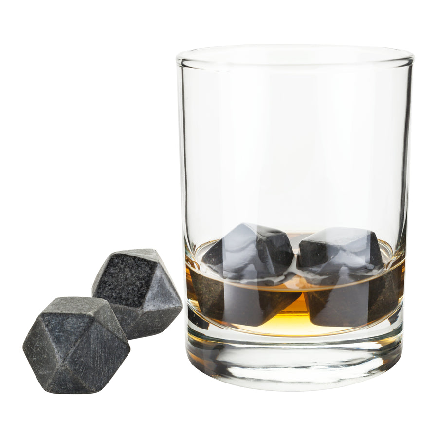 Hexagonal Glacier Rocks, Set of 4