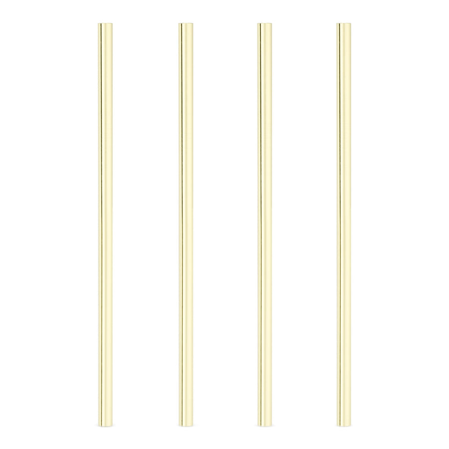 Wide Gold Cocktail Straws, Set of 4