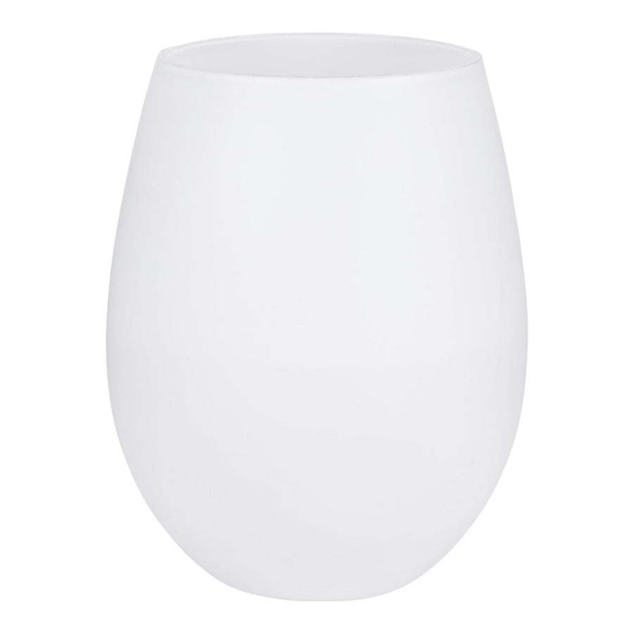 Powder White Stemless Glasses, Set of 2