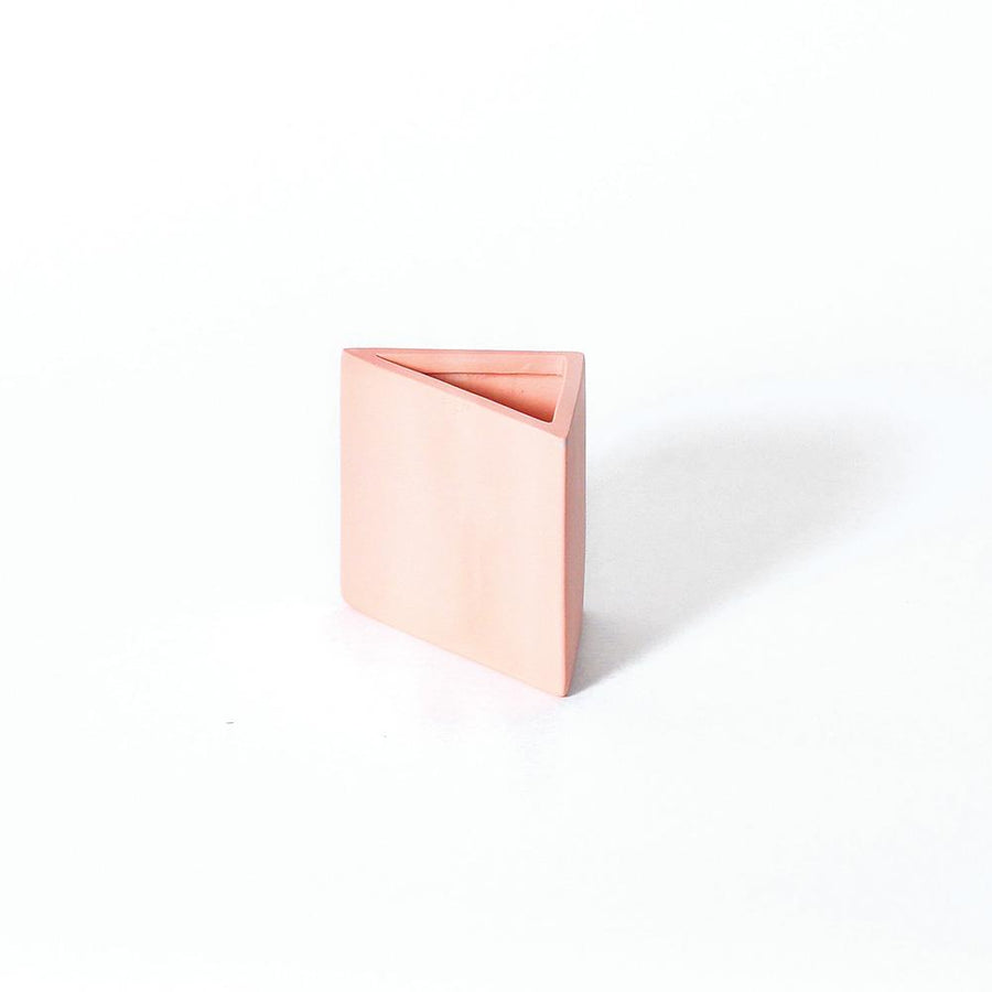 Peach Triangle Pencil Holder