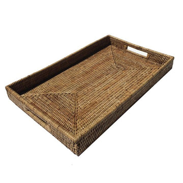 Rattan Rectangular Tray