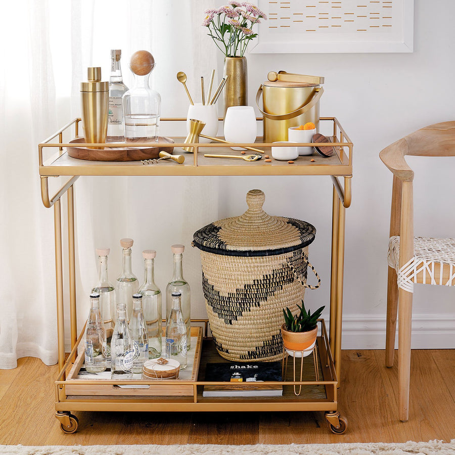 Dawson Two-Tier Bar Cart