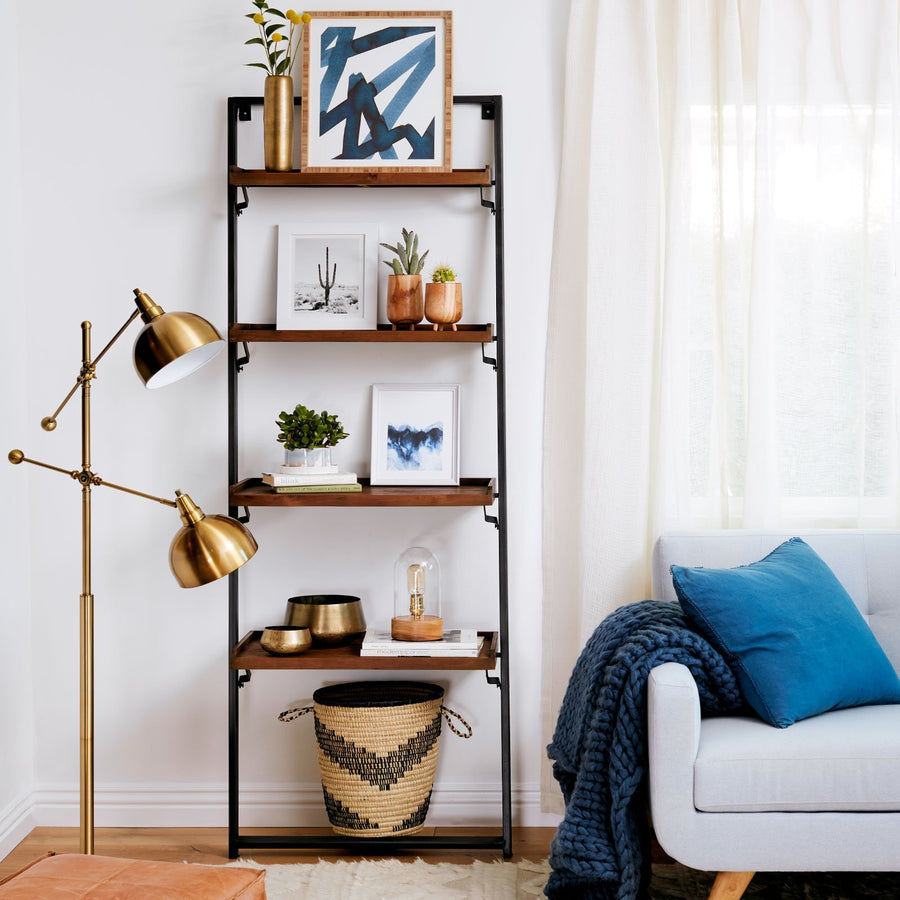 Recycled Teak Leaning Shelves