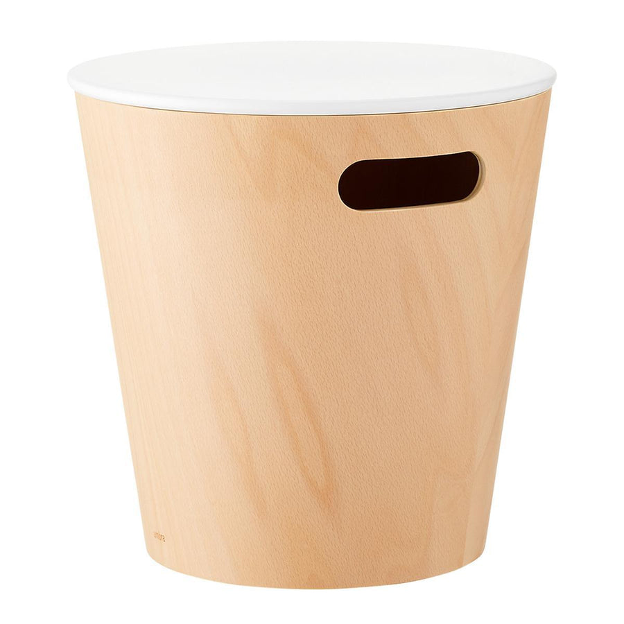 Wood Storage Stool & Bin