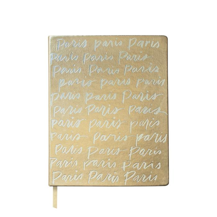 Paris Script Metallic Journal