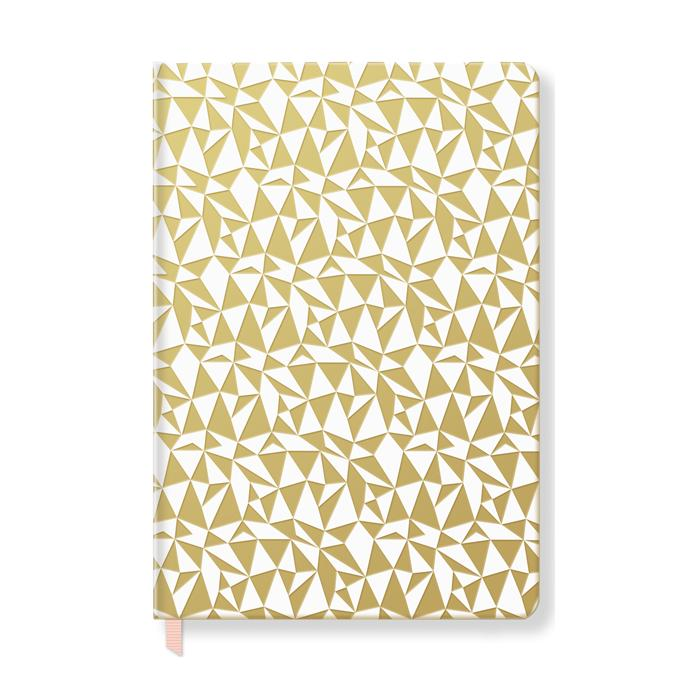 Crystal Pattern Faux Leather Journal