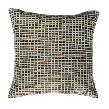 Neutral & Taupe Designer Woven Pillow