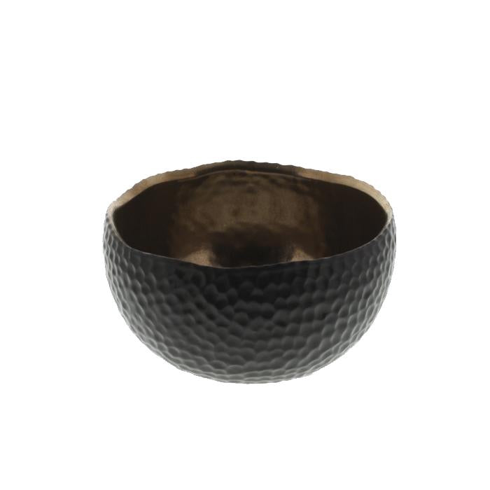 Small Gold & Black Ceramic Bowl