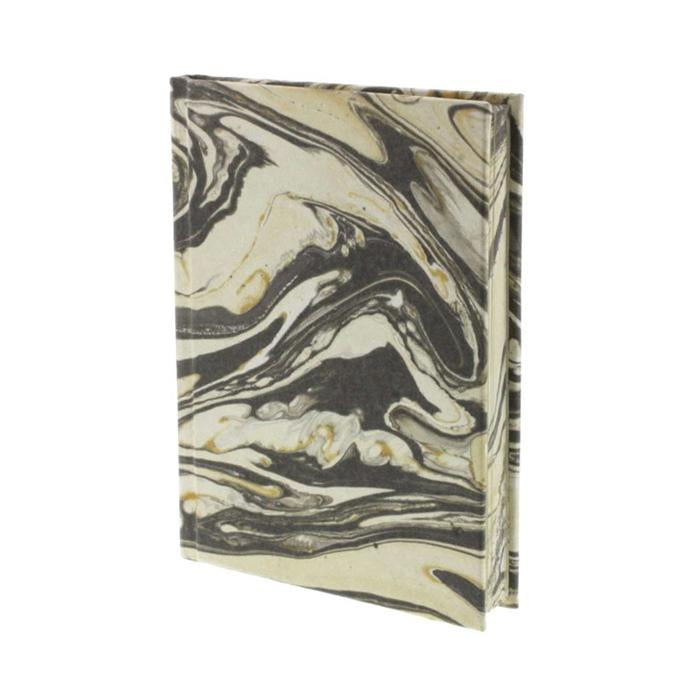 Gray Marbleized Paper Journal