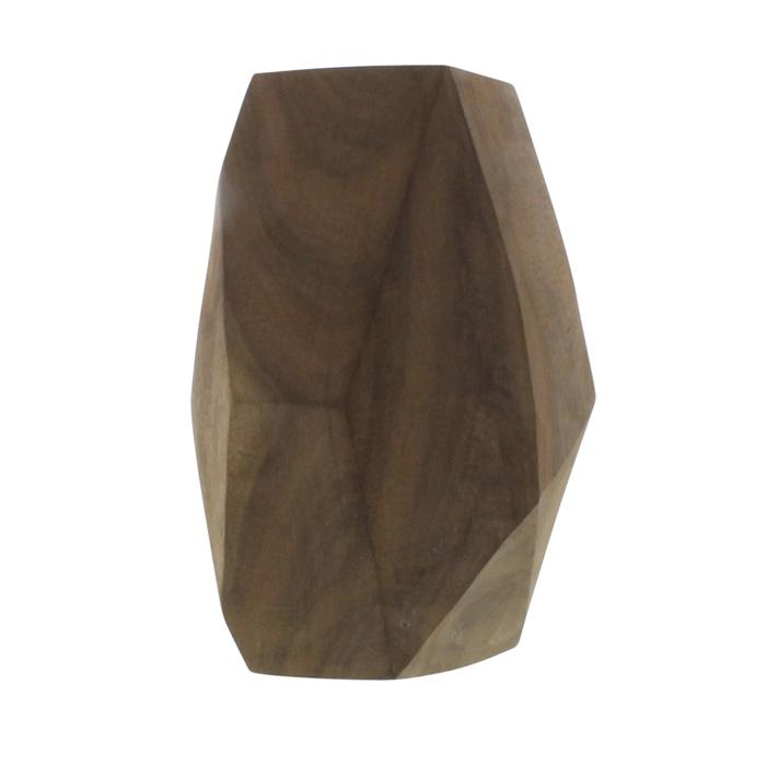 Modern Faceted Wood Sculpture