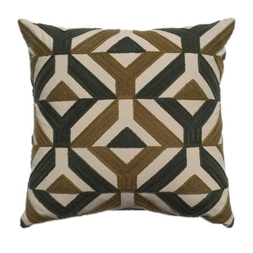 Ari Geometric Embroidered Design Pillow