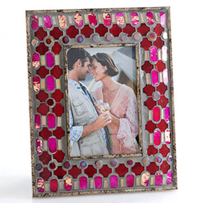 4X6 Agadir Tile Mosaic Ruby Photo Frame