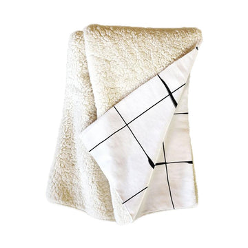 Between The Lines Fleece Throw Blanket