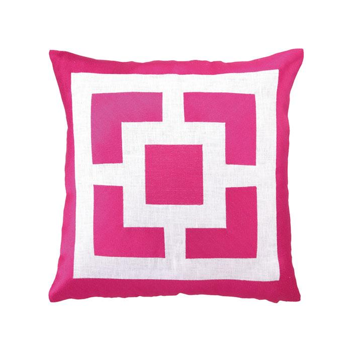 Palm Springs Block Pink Pillow
