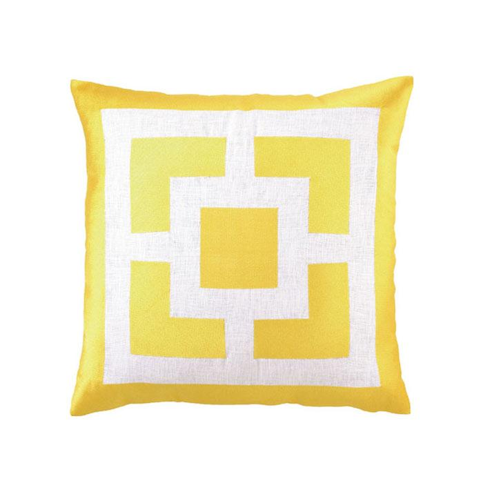 Palm Springs Block Yellow Pillow