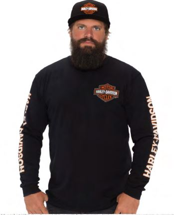 Darling Downs Dealer Tee B&S Long Sleeve. Black 40290200