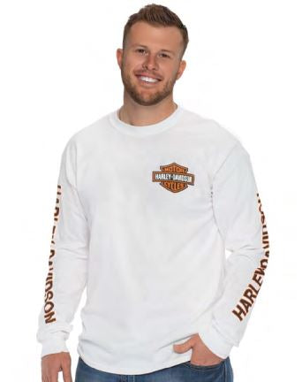 Darling Downs Dealer Tee B&S Long Sleeve. White. 40290201