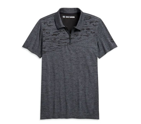 Harley-Davidson® Men's Nearly Seamless Jacquard Polo - Slim Fit. 96343-20VH