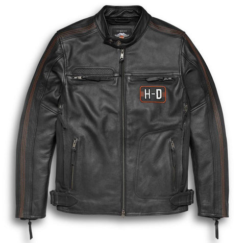 HARLEY-DAVIDSON MENS WRIT LEATHER JACKET 97001-20VM