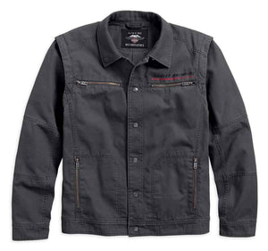 Men's Convertible Garage Casual Jacket, Gray 97461-18VM