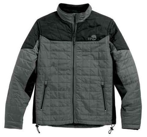 Men's Turret Packable Mid-Layer Jacket, Black/Gray 97567-16VM