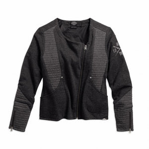 Asymmetric Zipper Knit Jacket - 97598-16vw
