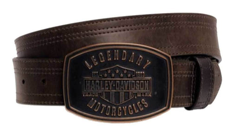 Harley-Davidson® Men's Legendary Belt w/ Removable Buckle, Brown. 97685-16VM