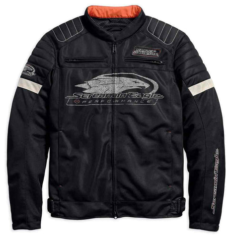 Harley-Davidson® Men's Screamin' Eagle Mesh Riding Jacket, Black 98161-18VM