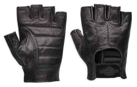 Harley-Davidson® Men's Perforated Bar & Shield Fingerless Gloves 98182-99VM