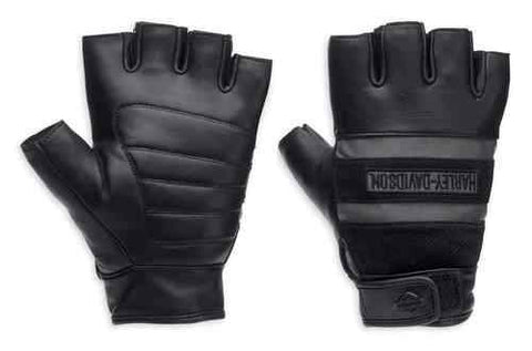 Men's Centerline Reflective Fingerless Leather Gloves 98250-13VM