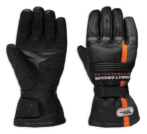Harley-Davidson® Men's Ratchett Gauntlet Leather Gloves, Black. 98276-19VM