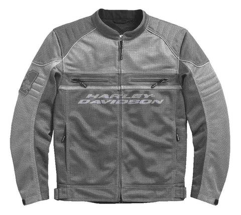 Harley-Davidson® Men's Affinity Colourblocked Mesh Riding Jacket, Gray 98296-17VM