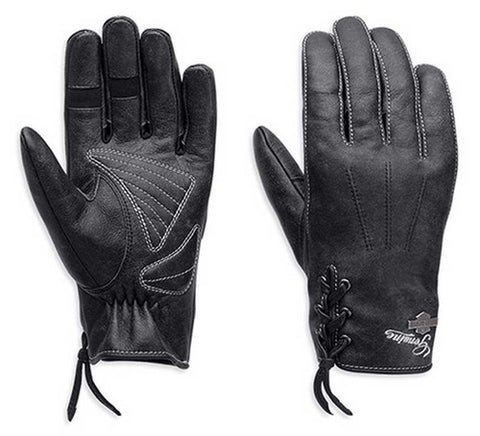 Women's Swingback Distress Full-Finger Leather Gloves 98343-15VW